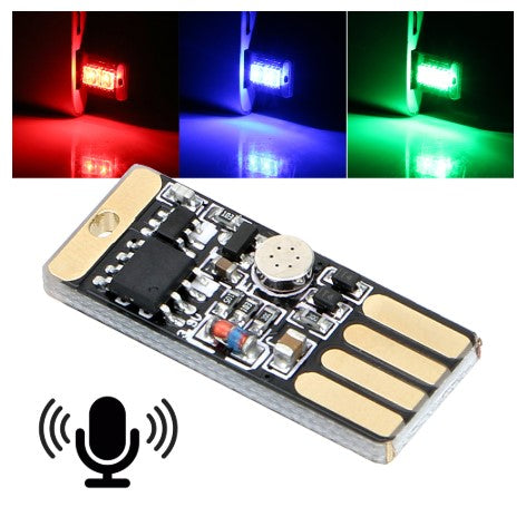 Sound activated 5V USB LED Card