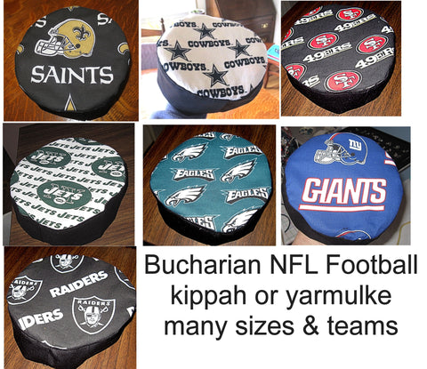 NFL Football Bucharian kippahs or yarmulkes