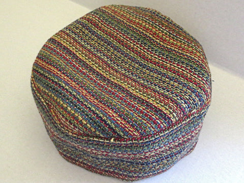 tapestry bucharian kippah multicolored small stripes