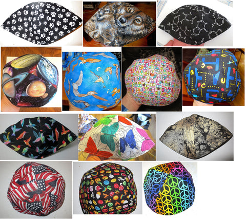 geeky science animals kippah owls butterflies video games yarmulke