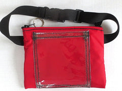 insulated waist pouch with clear pocket