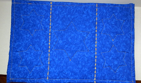 quilted insulated table mat Stars of David