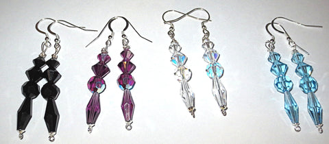 Swarovski crystal handmade earrings