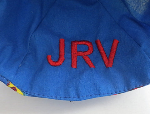embroidered initials in a kippah