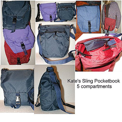 kate's sling pocket purse with 6 or more compartments on closeout sale now