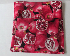 Pomegranates matzo case 3 sections