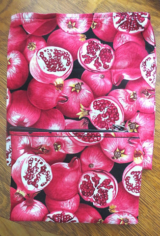 pomegranates matzah cover afikomen bag set