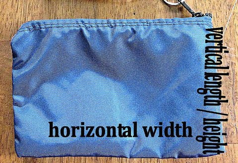 small zippered nylon bag