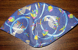 Chanukah Judaica kippahs Hanukkah yarmulkes many patterns of Menorahs, Dreidels, Stars of David