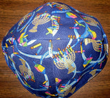 Chanukah kippahs or Hanukkah yarmulkes Happy Hannukah Blue