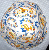 Chanukah kippahs or Hanukkah yarmulkes Menorahs and Stars