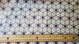 Judaica Shabbat or holiday many beautiful small golden blue Stars of David fabric by the half yard beautiful OOP