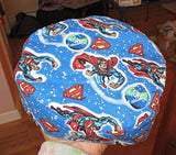 Superheros Bucharian kippah -- Marvel Comics, DC comics, Wonder Woman, Spiderman, Superman, Batman, Movie TV Characters and more hat style Sephardic yarmulkes