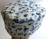 Bucharian kippah classic  solid colors and prints Sephardic hat style yarmulke --choose your size and color