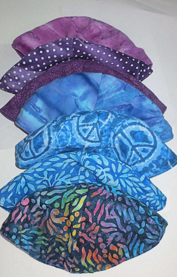 Batik kippahs beautiful fabrics to select from