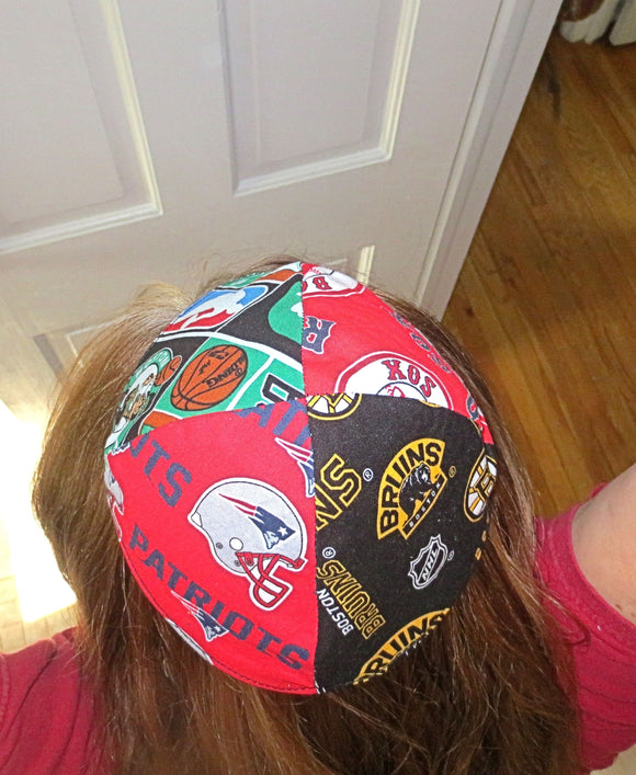 Pro Sports teams kippah or yarmulke 4 teams per kippah, NFL NHL NBA MLB