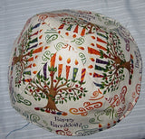 Chanukah kippahs or Hanukkah yarmulkes Chanukah Tree of Life