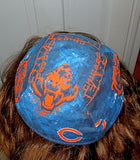 handmade Chicago Bears skull cap