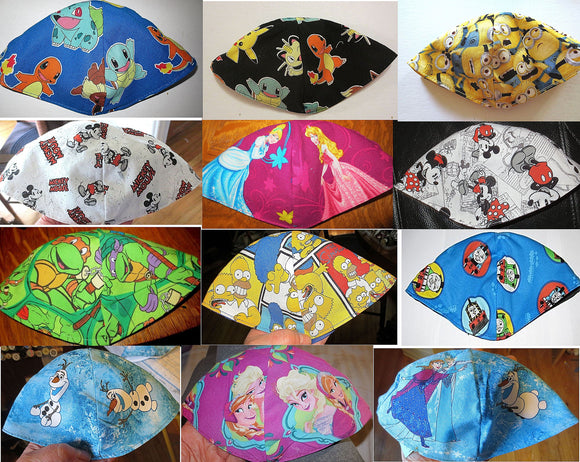 Kippahs for children Disney TV and Movie characters