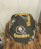 Handmade Pittsburgh Steelers skullcap