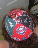 Pro Sports teams kippah or yarmulke 4 teams per kippah, great for every sports fan