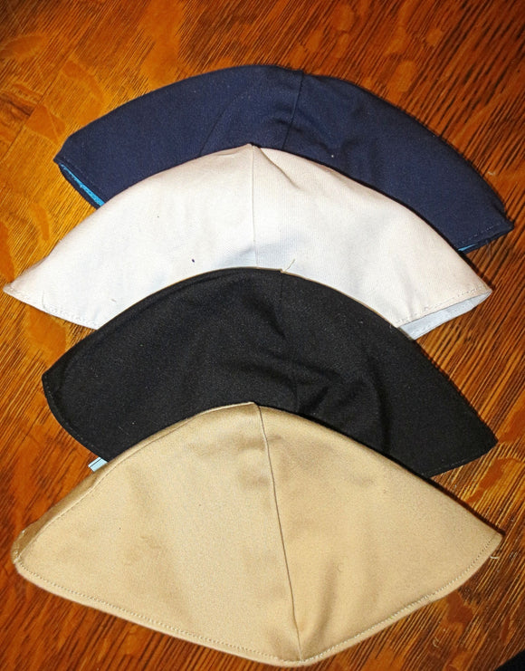 Plain colors cotton kippah choice of main colors yarmulke