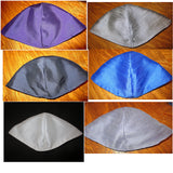 Silk Dupioni plain colors cotton kippah or yarmulke