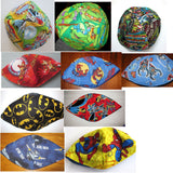 REVERSIBLE regular kippahs...select your patterns for each side of the kippah Superheros and Star wars patterns