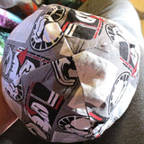 REVERSIBLE regular kippahs...select your team character music geeky patterns for each side