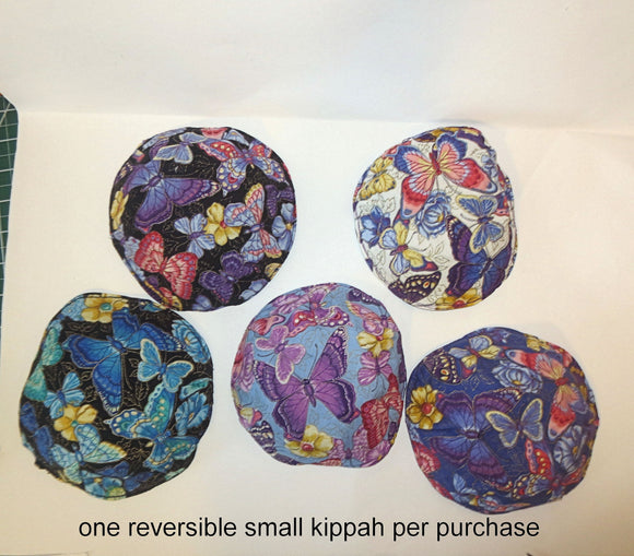 Butterflies kippah beautiful many Lepidoptera saucer or small yarmulke