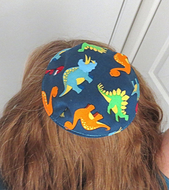 Saucer kippah reversible select pattern both sides Animals