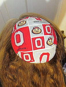Saucer Reversible kippah or yarmulke college university teams