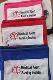 Auvi-q medical alert label insulated carrier