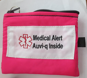 Auvi-q medical alert label insulated holder