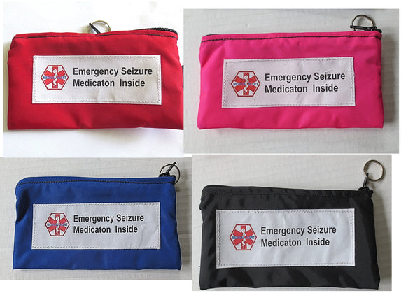 Emergency Seizure Medical alert zippered bag for emergency seizure medications (not insulated)