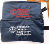 IN STOCK Adrenal Insufficiency Toss in your bag zippered medical insulated case with alert label