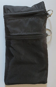 Insulated double zippered carrier / holder pouch for medications needing insulation