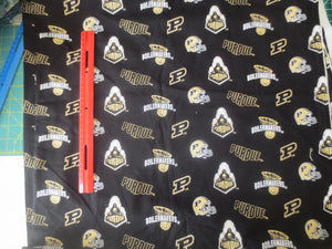 Purdue University cotton fabric