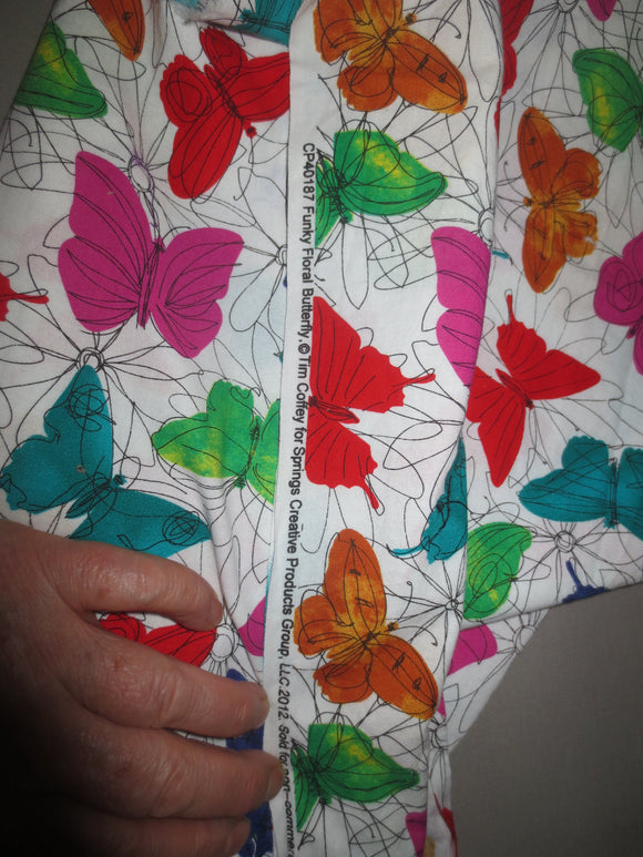 Floral Butterfly Tim Coffey cotton fabric colorful abstract butterflies with flowers bhy