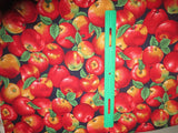 Apples cotton fabric yummy fruit an apple a day keeps the doctor away bhy