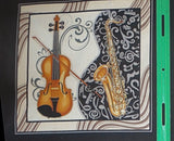 Perfect Pitch II by Dan Morris musical instruments cotton panel