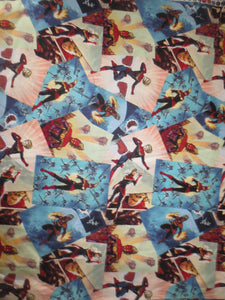 Captain Marvel cotton fabric  Marvel Comics character Carol Danvers female superhero bhy
