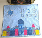 Jerusalem theme Challah cover Shabbat centerpiece mat reversible on sale