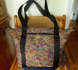 large tapestry handbag