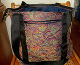 Elegant Fans Tapestry tote bag adjustable handles weather proof zippered compartments