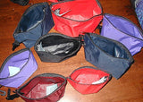 Nylon Zippered gusset pouches in three sizes:  small, medium and large  with choice of color and options to add
