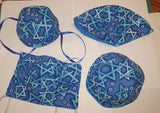 Judaica kippah and matching face mask