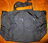 Zippered tote bag weather proof organizing large purse project bag in black