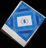 Modern Challah Cover Hamsa with Evil Eye Shabbat Shalom reversible for Yom Tov embroidered diamond shaped