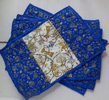Handmade Hanukkah table mats
